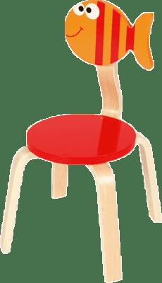 SCRATCH Drevená detská stolička Rybička