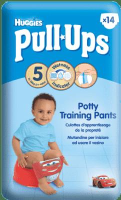 HUGGIES® PULL-UPS veľ. 5 (11-18 kg), 14 ks - chlapčenské tréningové nohavičky