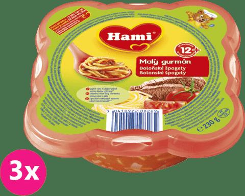 3xHAMI Malý Gurmán Boloňské špagety 230g