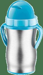 TESCOMA Dětská termoska s brčkem BAMBINI 300ml,nerez-modrá