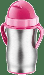 TESCOMA Dziecięcy termos za słomką BAMBINI, kolor różowy