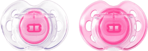 TOMMEE TIPPEE Šidítko CTN silikon Air Style 2ks 0-6m-růžové