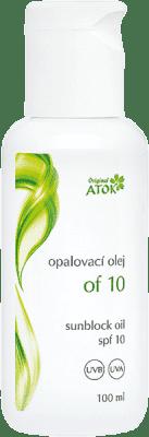 ATOK Opaľovací olej OF10 100ml