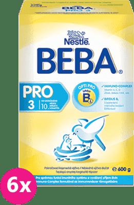 6x NESTLÉ BEBA 3 PRO (600g) - kojenecké mléko