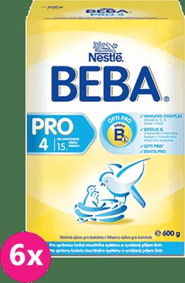 6x NESTLÉ BEBA 4 PRO (600g) - dojčenské mlieko