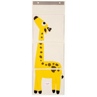 3 SPROUTS Organizér na stenu Žirafa