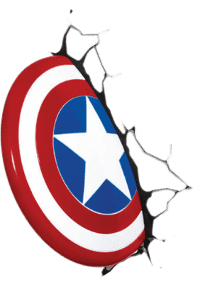 PHILIPS 3D światło na ścianę Tarcza Captain Amerika