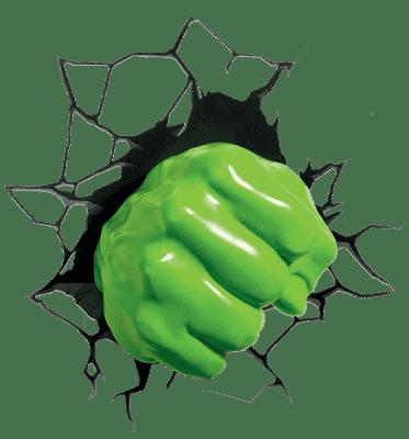 PHILIPS 3D światło na ścianę Hulk Pięść