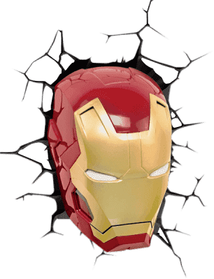 PHILIPS 3D światło na ścianę Iron Man