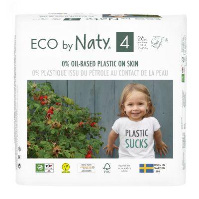 ECO BY NATY 4+ Maxi+, 24 ks (9-20 kg) - jednorázové pleny