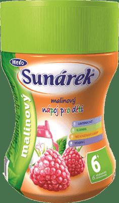 SUNÁREK Malinový rozpustný nápoj - dóza (200 g)