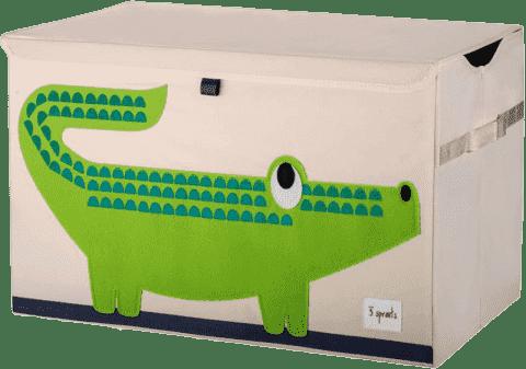 3 SPROUTS Uzatvárateľná debnička na hračky Krokodíl