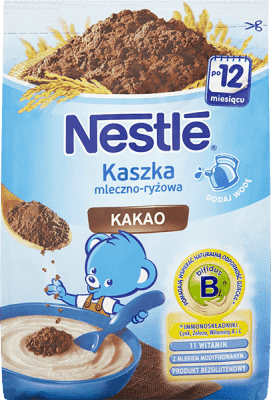 NESTLÉ Kaszka mleczno-ryżowa kakao (230g)