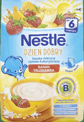 NESTLÉ Dzień dobry Kaszka mleczna ryżowo-kukurydziana banan-truskawka (230g)