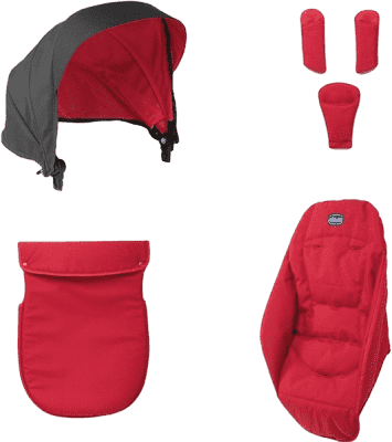 CHICCO Urban doplnky 15 red wave