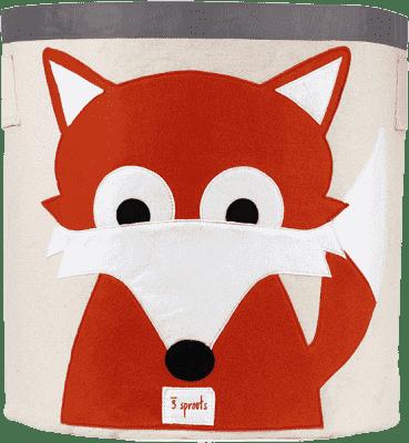 3 SPROUTS Koš na hračky Fox