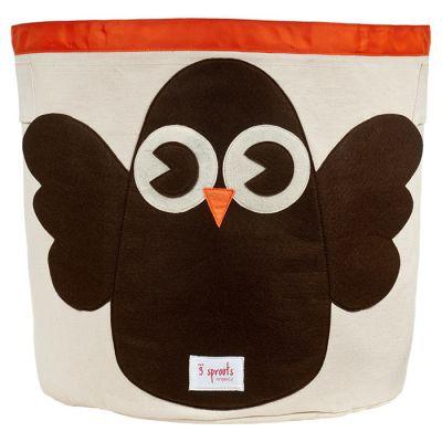 3 SPROUTS Koš na hračky Owl
