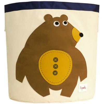3 SPROUTS Kôš na hračky Medveď