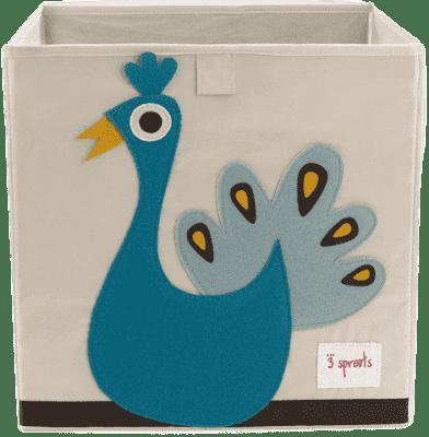 3 SPROUTS Pudełko do przechowywania Peacock