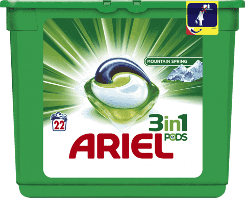 ARIEL Active Gel Mountain Spring (22ks) - gelové prací kapsle