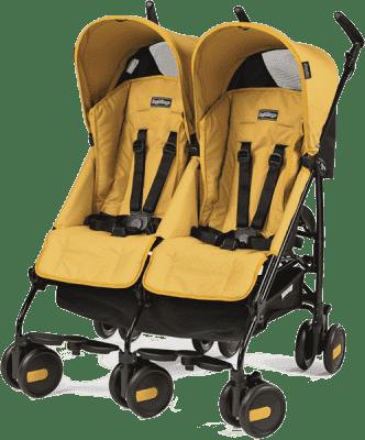PEG-PÉREGO Wózek bliźniaczy Pliko Mini Twin Classico Mod – Yellow