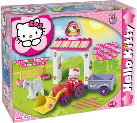 UNICO Hello Kitty Zestaw klocków – Mini Farma 18 szt.