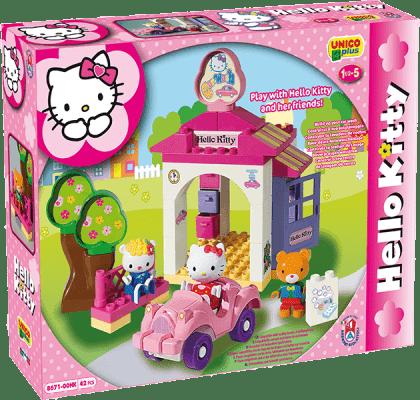 UNICO Hello Kitty Zestaw klocków – Myjnia samochodowa 42 szt.
