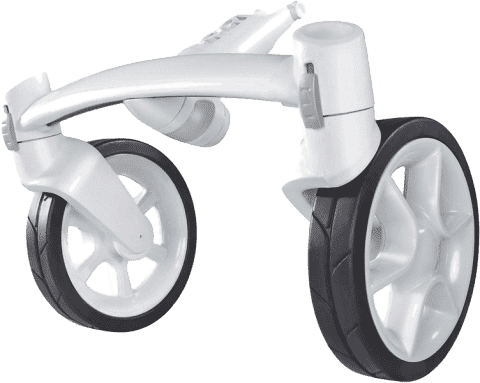 QUINNY Modul 4 kola bílý pro kočárek Moodd