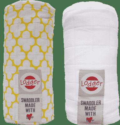 LODGER Multifunkční osuška Swaddler balení 2ks – Gold/White