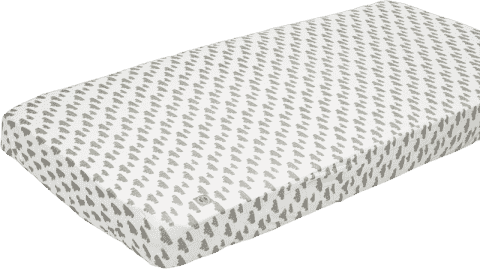 LODGER Prostěradlo Slumber Cotton do kolébky 40x80cm – Grey