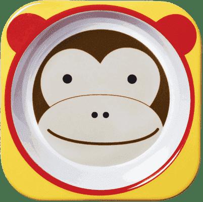 SKIP HOP Zoo Miska melamínová Opička 6 m+