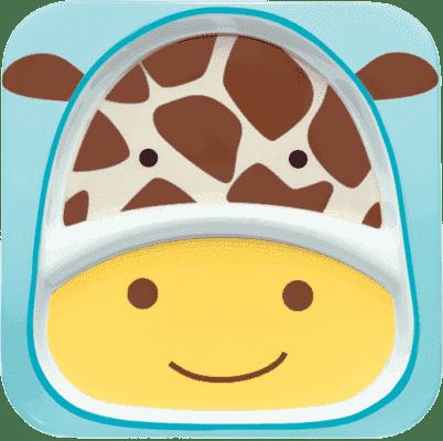SKIP HOP Zoo Tanierik melamínový delený 2v1 Žirafa 6 m+