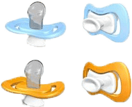 IIAMO piece cumlík 2ks, oranžová/modrá (0-6m)