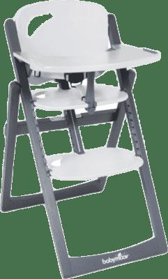 BABYMOOV Jedálenská drevená stolička Light Wood, Zinc / Alu