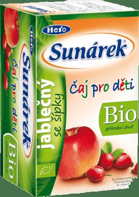 SUNÁREK BIO detský čaj Jablkový so šípkami (20x1,5 g)
