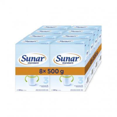 8 x SUNAR Kojenecké mléko Standard 3, 500 g