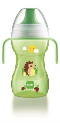 MAM Hrnek na učení Fun to drink cup 8 m+ 270 ml zelený – náhodný motiv