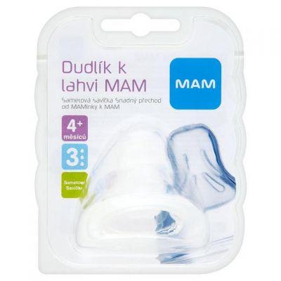 MAM Cumlík na fľašu veľkosť 3 rýchly prietok, 4+ mesiacov