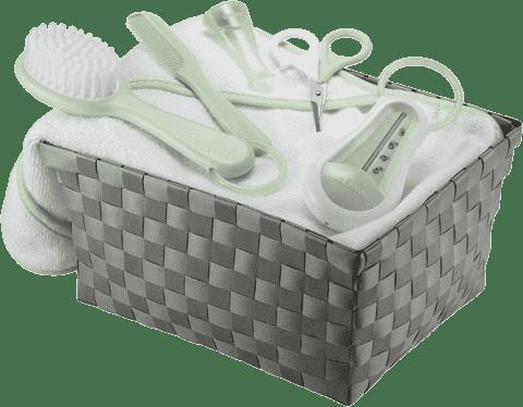 BEABA Toaletní sada pro miminko v košíku - zelený
