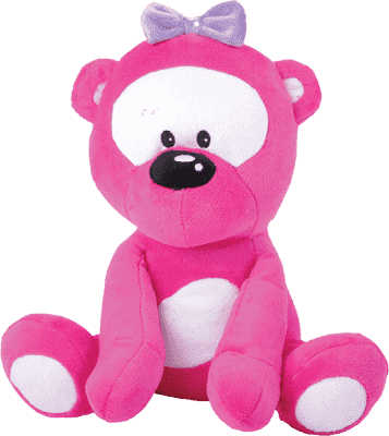 MIKRO TRADING Medvedík ružový v tme svieti