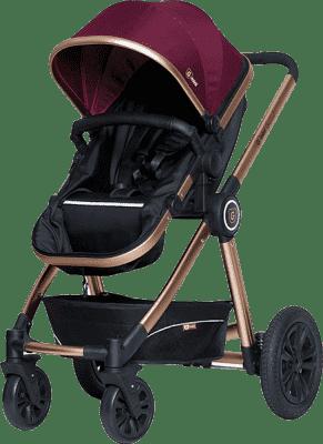 G-MINI Grand Wózek zestaw – Fuksja/złoty