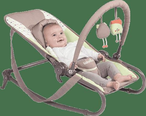 BABYMOOV Ležadlo Bubble Simple, Brown/Green