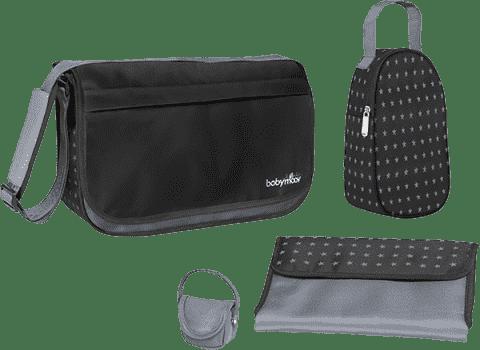 BABYMOOV Messenger Bag, Black – přebalovací taška