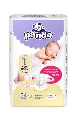 BELLA PANDA Newborn 54 ks (2-5 kg) - jednorázové pleny