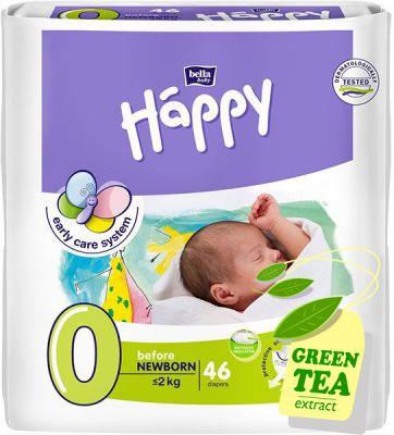 Bella HAPPY Before Newborn 0 (do 2 kg) 46 szt. - pieluszki jednorazowe