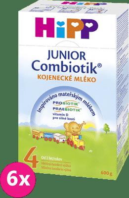 6x HiPP 4 JUNIOR Combiotik (600g) - dojčenské mlieko