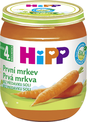 HIPP BIO Prvá mrkva 125 g - zeleninový príkrm