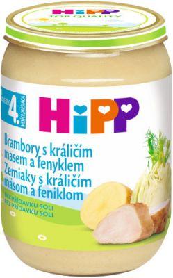 HIPP brambory s králičím masem a fenyklem (190 g) - maso-zeleninový příkrm