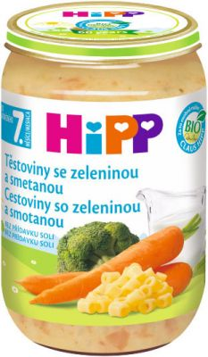 HIPP BIO Cestoviny so zeleninou a smotanou 220 g - zeleninový príkrm