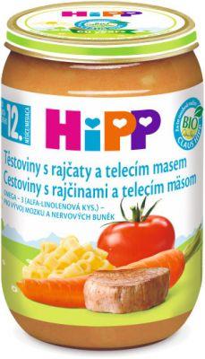 HIPP BIO Paradajky s cestovinami a teľacím mäsom 220 g - mäsovo-zeleninový príkrm